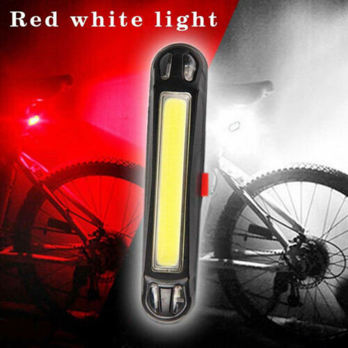 Bike LED USB Rechargeable Bicycle Cycling Tail Rear Lighting Safety Warning Lamp