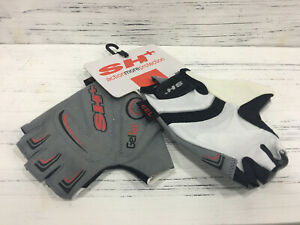 SH Butterfly Half Finger Cycling Glove White Size L
