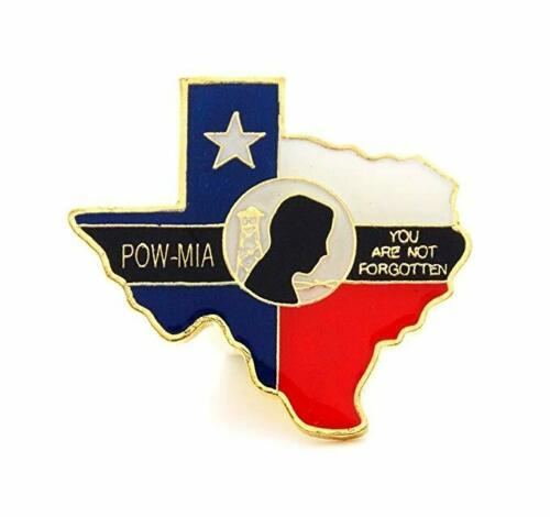 Wholesale Lot 12 Texas Flag State Shape POW MIA Lapel Hat Cap Pin Tie Tac