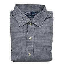 Polo Ralph Lauren Mens Dress Shirt Custom Fit Spread Collar Regent Woven Fitted