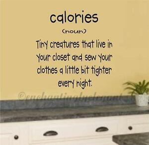 Calories Definition Vinyl Decal Wall Sticker Words