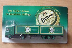 Modellino-autocarro-per-birra-Rimorchio-trasporto-MERCEDES-ACTROS-LICHER-2hs-20