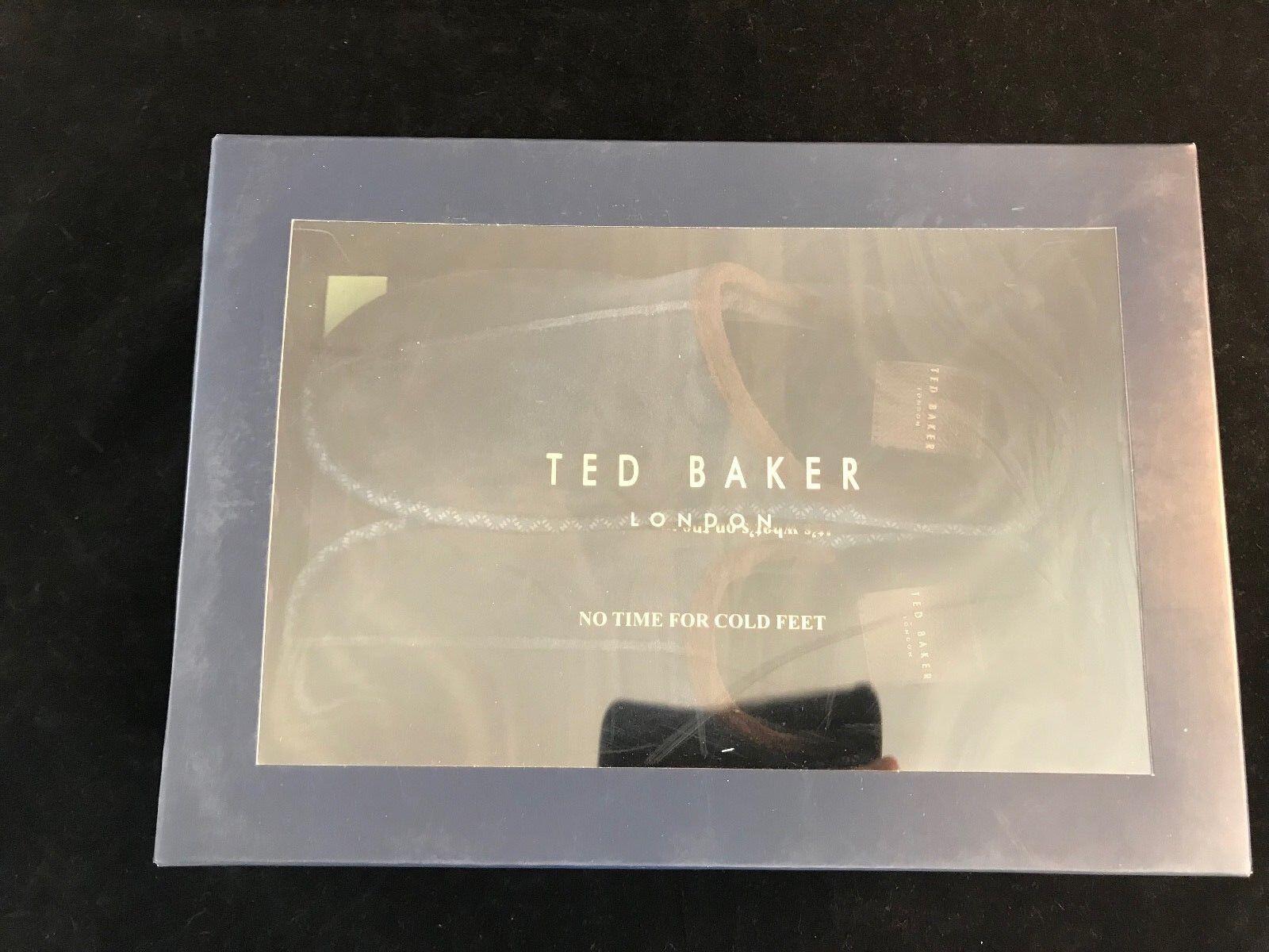 BNIB TED BAKER Dark Blau Youngi 2 9 Suede Slippers. Größe UK 9 2  Gift Idea 68ae01