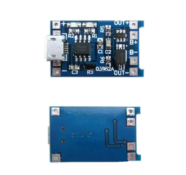 Micro USB 1A 5V Lithium Battery Charging Board Charger Module 18650+Protection