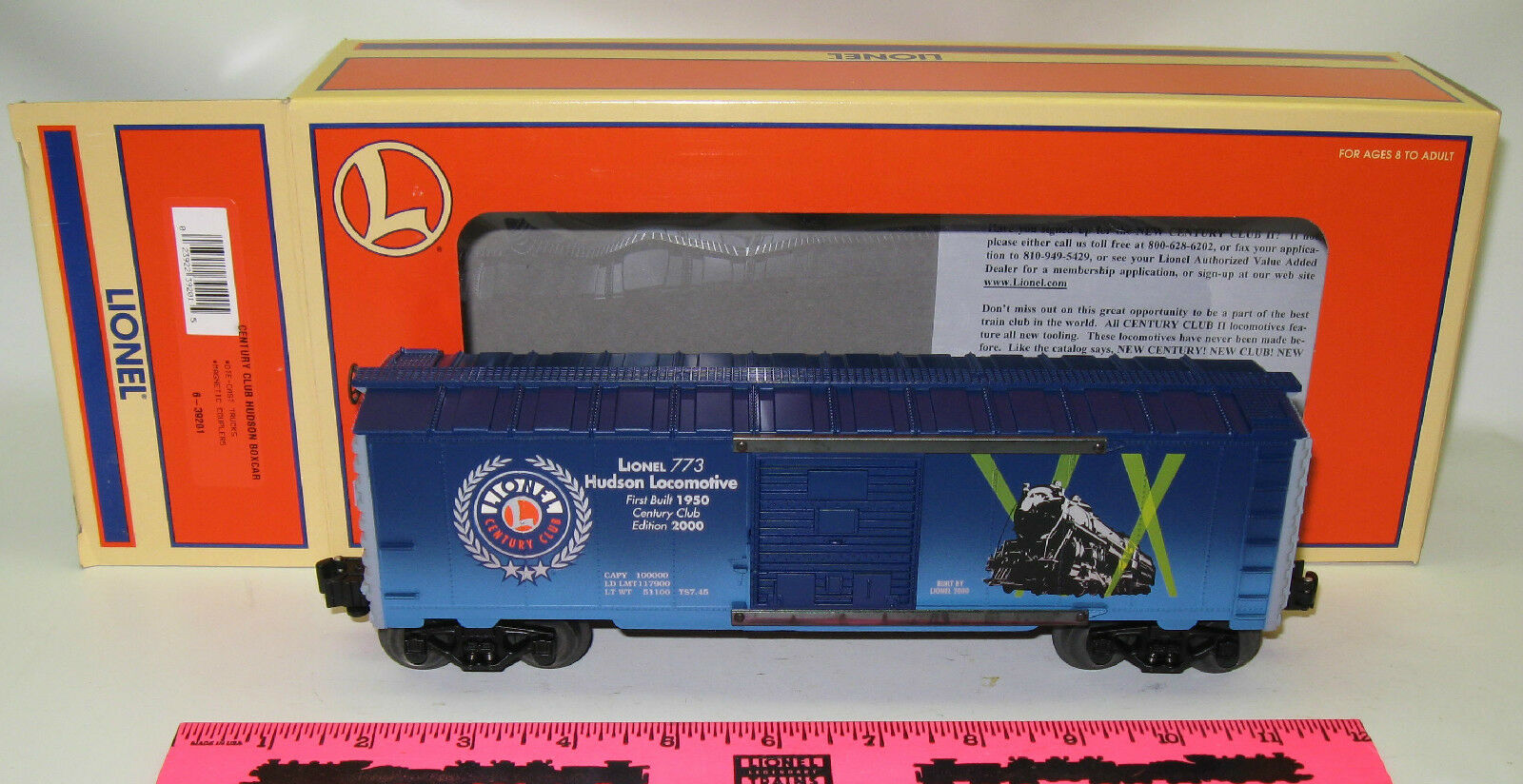 Lionel New 6-39201 Century Club Hudson Boxcar