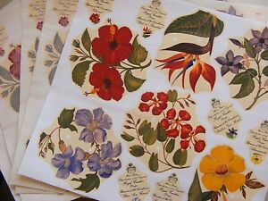 Image Is Loading Floral Water Slide Transfers Furniture Up Cycling