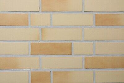 Kleberiemchen GroßE Sorten Fassade Klinker-riemchen Nf-format Gelb Nuanciert Glatt