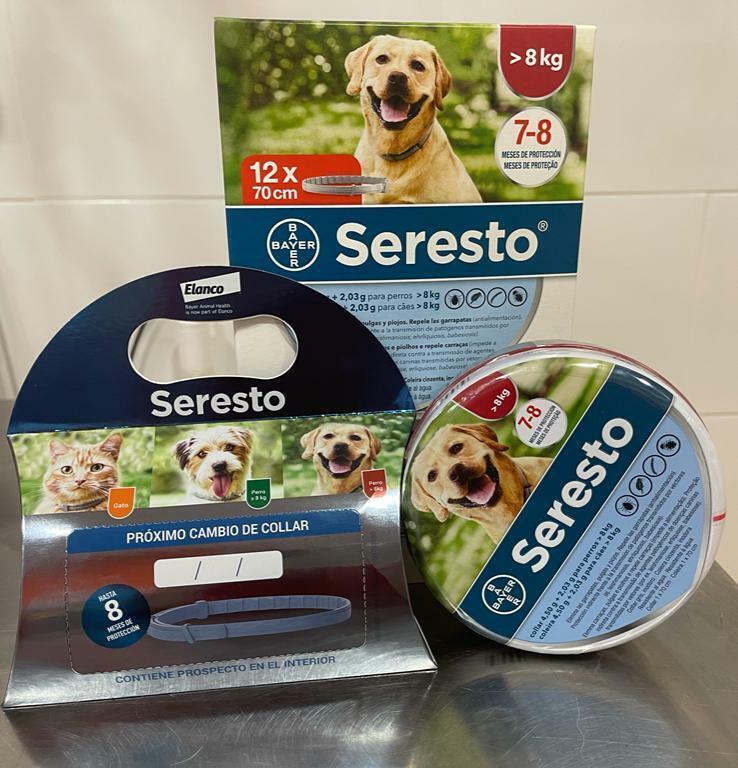 Collar Bayer Antiparasitario para perros + de 8 kg . 8 meses...