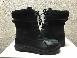 cb8febacdbc Details about UGG KIDS / YOUTH BUTTE BLACK Boot US 4 / EU 34 / UK 3 - NEW