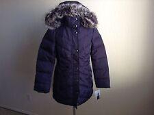NWT LONDON FOG $225 Faux Fur Trim Hooded Down Jacket*Blackberry*XS