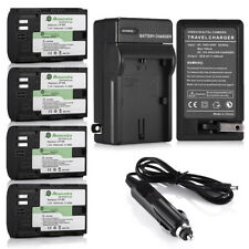 LP-E6 Battery for Canon EOS 6D 60D 7D 70D 5D Mark II III DSLR Camera & Charger
