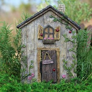 Miniature dollhouse fairy garden ladybug fairy door new for Miniature fairy garden doors