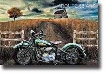 VINTAGE INDIAN MOTORCYCLE NOSTALGIC ART PRINT