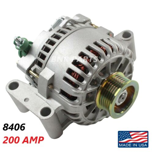 200 AMP 8406 Alternator Ford Focus High Output Performance HD NEW USA