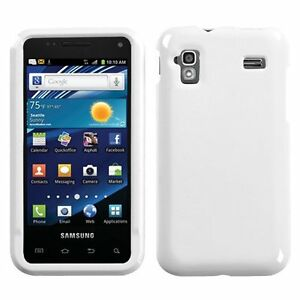 For-Samsung-Captivate-Glide-i927-Rubberized-HARD-Case-Snap-Phone-Cover-White