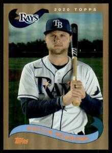 2020 Archives Base Foil #214 Austin Meadows /75 - Tampa Bay Rays