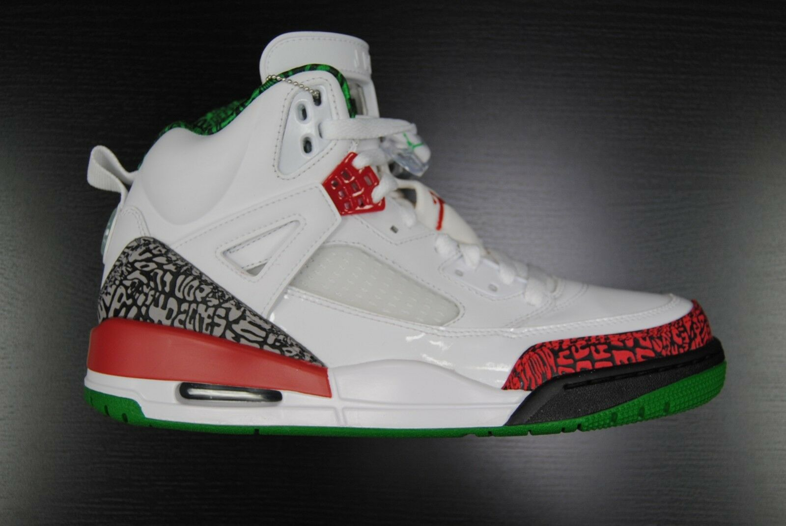 f9bad844a  315371 125  NEW MEN S AIR JORDAN SPIZIKE RETRO OG WHITE RED GREY GREEN  JO862