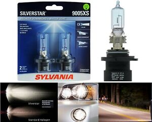 Sylvania-Silverstar-9005XS-HB3A-65W-Two-Bulbs-Head-Light-High-Beam-Upgrade-Lamp