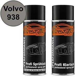 Autolack-Spraydosen-Set-Volvo-938-Silver-Stone-Metallic-Basislack-Klarlack