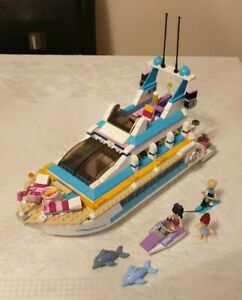 LEGO Friends 41015 Dolphin Cruiser yacht boat 3 minifigures