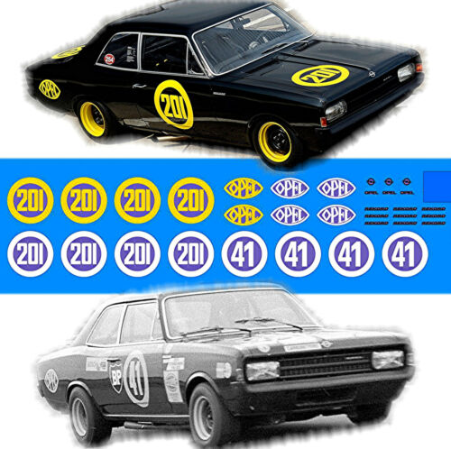 Opel Rekord C renntourenwagen #201 #41 viuda negra 1:32 decal estampados