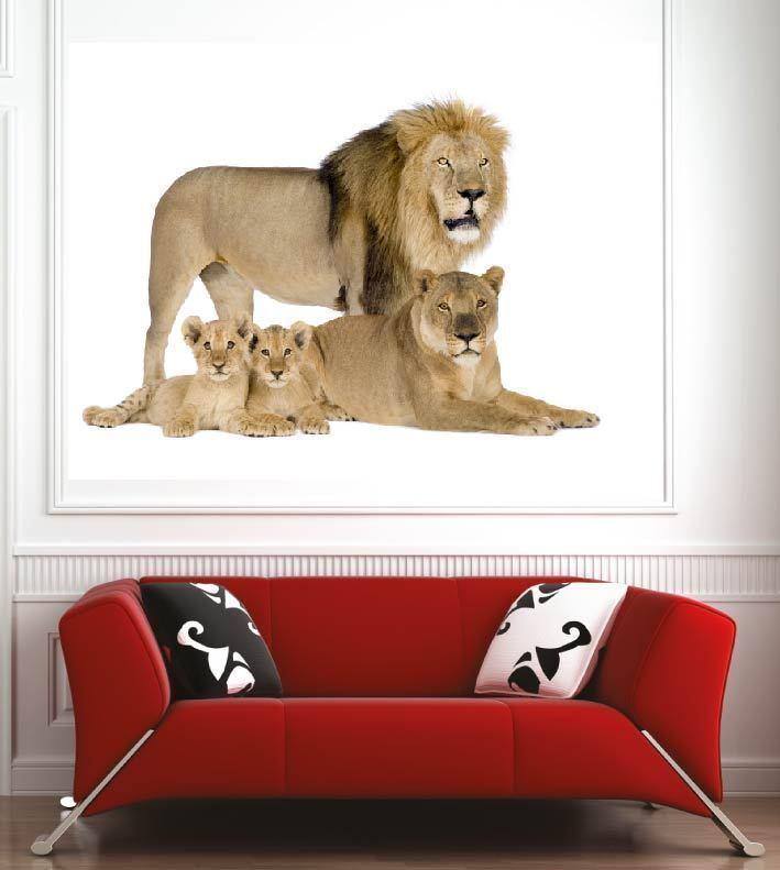 Poster poster decorazione da muro Famille Famille Famille Leone ref 17724580 (6 dimensioni) 5c4d36