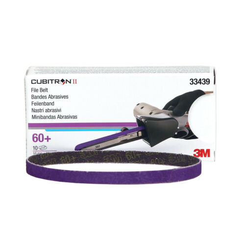 "60 3M 10-Pack of 3//8/"" x 13/"" Cubitron File Sanding Belts for #33575 Grit #33439"