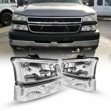 Fits 2003 2007 Chevy Silverado Clear Headlights Headlamp Bumper Signal Lamps Fits 2004 Avalanche 1500