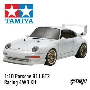 tamiya 1 10 porsche 911 gt2 racing 4wd electric rc touring car kit tam47321. Black Bedroom Furniture Sets. Home Design Ideas