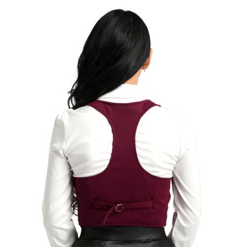Womens Slim Fit Racer Back Classic Vest Shirts V-Neck Sleeveless Top Waistcoat