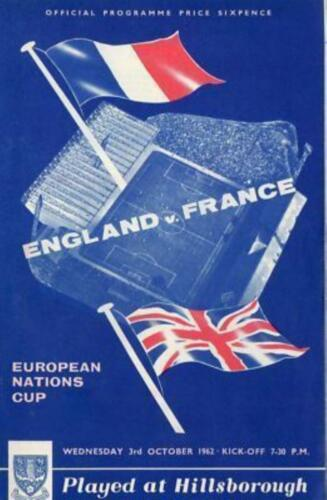 1962 ENGLAND v FRANCE AT HILLSBOROUGH