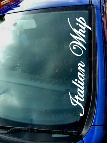 Italian Whip small to Large Windscreen Bumper Car Stickers Decals Alfa Fiat Cars