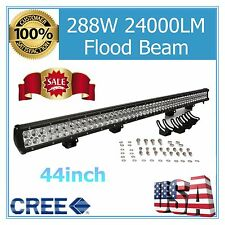 "44"" inch 288W CREE LED Trailer Work Light Bar Offroad Truck 4WD UTE SUV Flood 50"