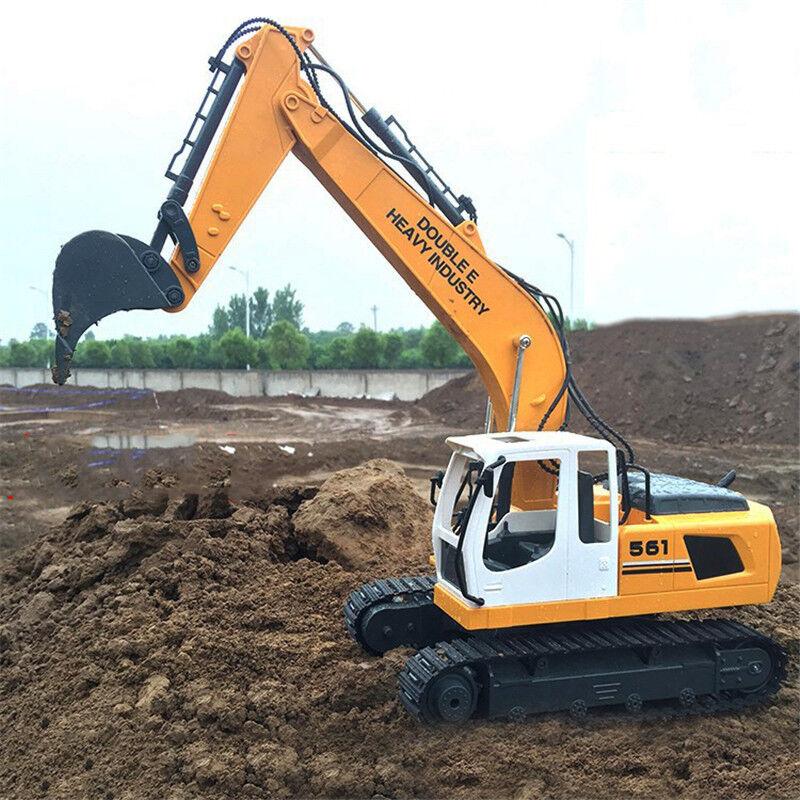 DIY RC Bagger Metall Schaufel Fernbedienung Steuern Bau Bulldozer Digger LKW