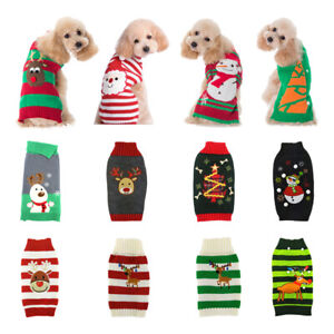 Pet-Dog-Christmas-Warm-Jumper-Sweater-Xmas-Clothing-Puppy-Cat-Knit-Coat-Costume