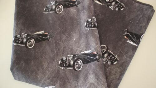 Dekostoff Canvas Baumwolle  Digitaldruck Autos auf anthrazit 50 x 140 cm