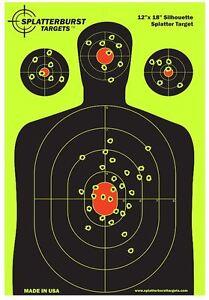 "12 x 18/"" Targets For Shooting Range Paper Gun Target Practice Silhouette 25 Pack"