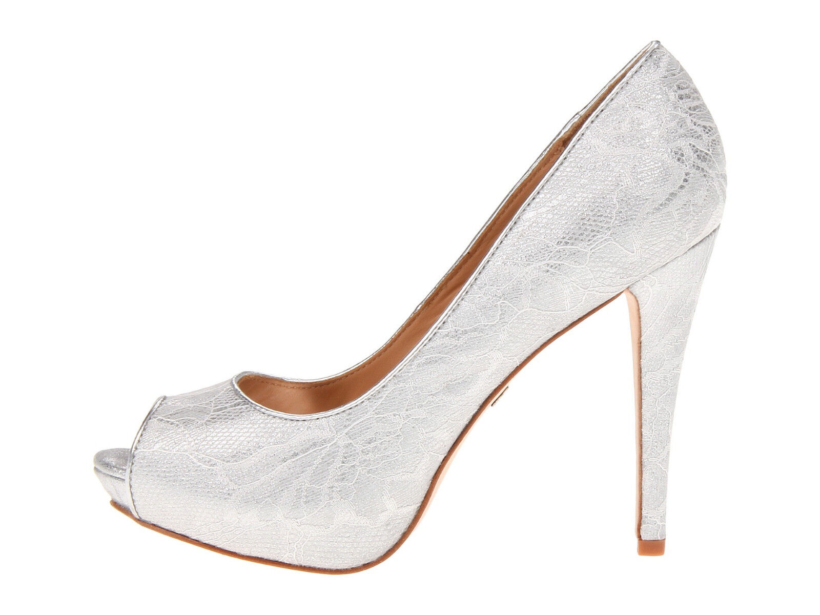 Badgley Badgley Badgley Mischka damen Humbie VI Weiß Silber Peep-Toe Formal Pumps Heels 3d0601