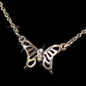 18K-ROSE-GOLD-GP-MADE-WITH-SWAROVSKI-CRYSTAL-PENDANT-NECKLACE-FILIGREE-BUTTERFLY