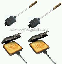 Pack of 2 Cast Iron Pie Cooker Campfire Sandwich Maker Guidesman