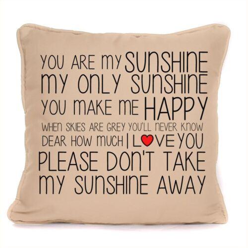Vous êtes mon rayon de soleil paroles Coussin Avec Pad inclus