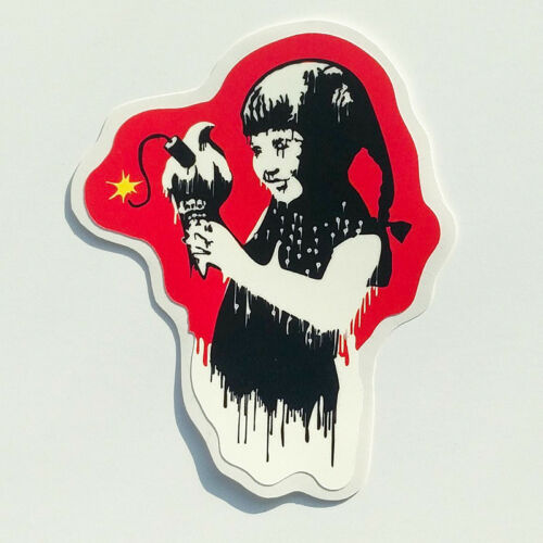 Banksy Sticker Ice Cream Girl Vinyl Decal Street Art Graffiti Car Bike Van Skate