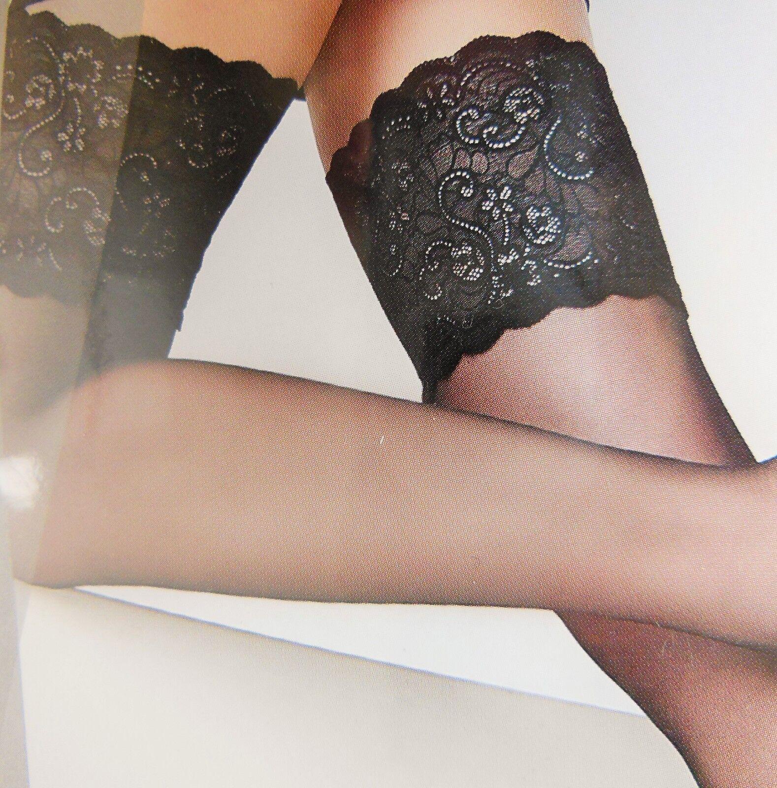 NAOMI BAS von Cecilia de Rafael | exklusive halterlose Strümpfe | breite Spitze