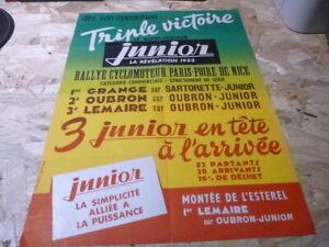 affiche-vintage-40-x-60-cm-Paris-Nice-Cyclomoteur-L-039-esterel-junior-1953-rare