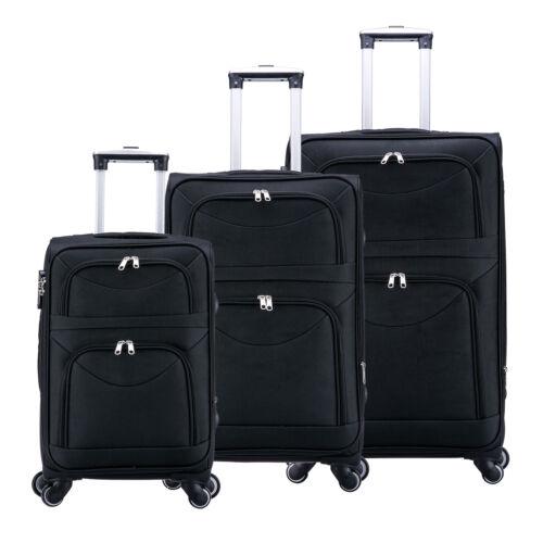 L XL noir rk4214sz Trolley Doux Bagages Valise de voyage tissu bagages à main Set M