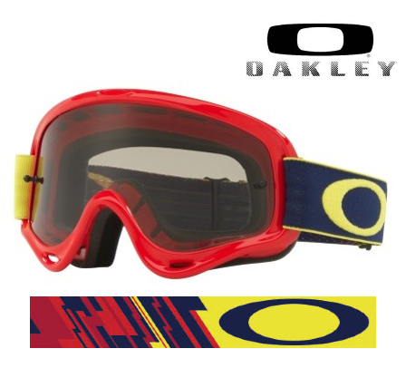 Lunette / Masque OAKLEY XS O Frame Kickstart Red/Yellow écran transparent Moto