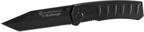 S/&W Bullseye Black Coated Stainless Tanto Blade Handle w//Bullet Design SWCK112