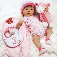 Lifelike Realistic Baby Doll Girl Reborn Infant 10 Piece Accessories Real Toy