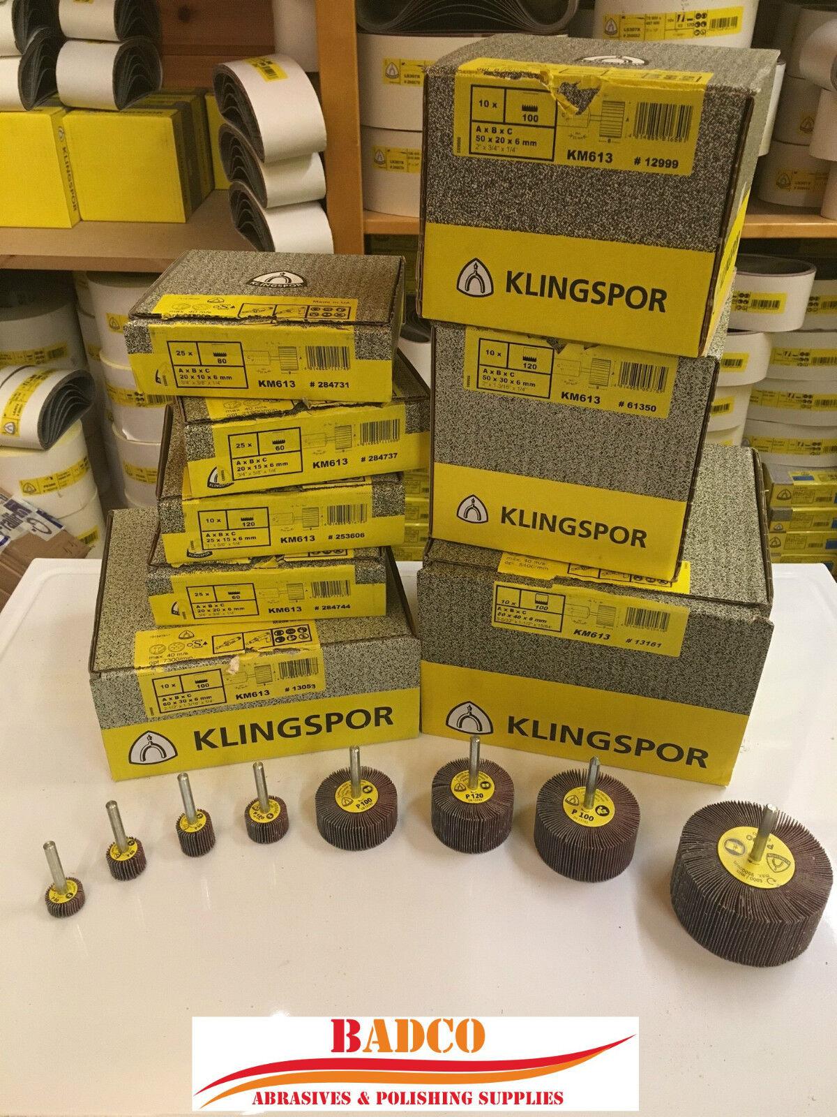 Sanding Abrasive Flap Wheel Mop KLINGSPOR KM613 Sandpaper Metal INOX Wood DIY