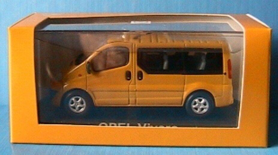 OPEL VIVARO BUS BUS BUS 2001 yellow MINICHAMPS 1 43 VAN PASSAGER VITRE KASTENWAGEN yellow 550092